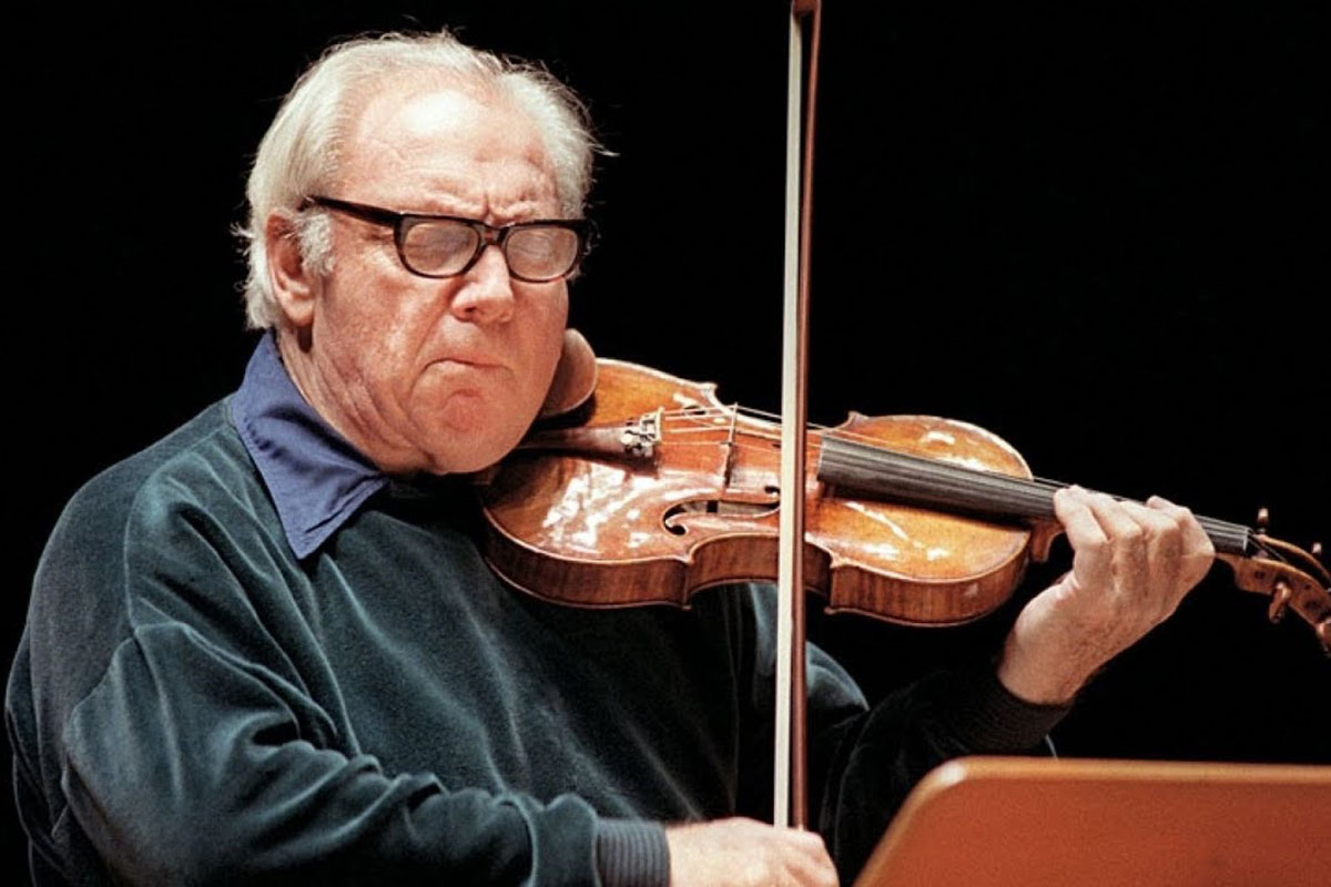 Isaac Stern playing the violin