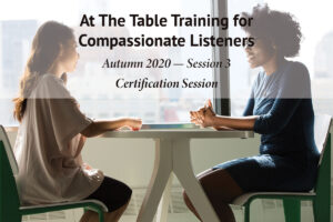 At the Table Training Session 3 - Autumn 2020
