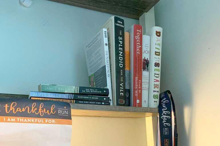Tom's bookshelf